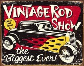Hot Rod Show Tin Sign #1324