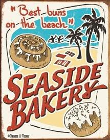 Seaside Bakery Tin Sign #1195
