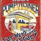 Buds Diner Eat Here Get Gas Tin Sign #1512