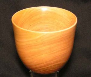 Natural Cherry Wooden Bowl Handturned 45 OOAK