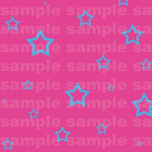 Miffle Stars - 12x12 - Pink Background