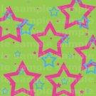 Miffle Stars - 12x12 - Green Background
