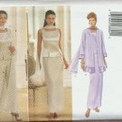 Plus Size Sewing Pattern 5885 Duster, top, pants, skirt, scarf