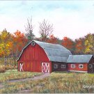Red Dairy Barn in Autumn