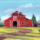 Texas Red Horse Barn