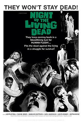 1968 NIGHT OF THE LIVING DEAD - NEW HORROR MOVIE POSTER