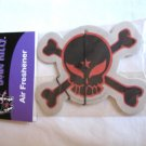 Skull and Crossbones Air Freshener Red & Black Punk Emo Goth Design