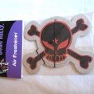 Skull and Crossbones Air Freshener Red & Black Punk Emo Goth Design