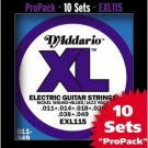 EXL115 Nickel- Blues/Jazz Rock Electric Guitar Strings ProPack