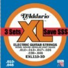 EXL110 Regular Light Gauge Electric Guitar Strings 3 Pack