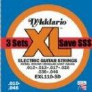 EXL110 Regular Light Gauge Electric Guitar Strings 3 Pack