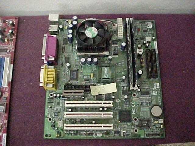 AOpen MX3W Pro motherboard w/ 733MHz P3, 256mb RAM