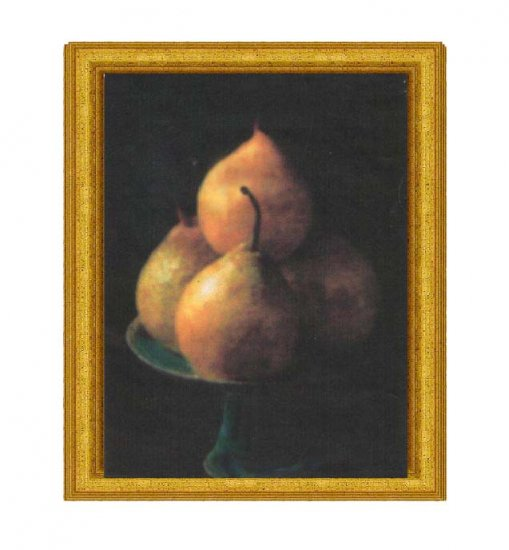 Pears on Porcelain