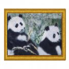Pandas with Golden Bamboo