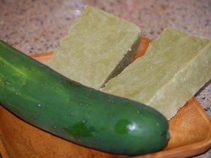 Cucumber Melon-Goat MIlk & Cucumber puree