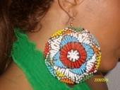 Multi-Colored Beaded Earrings