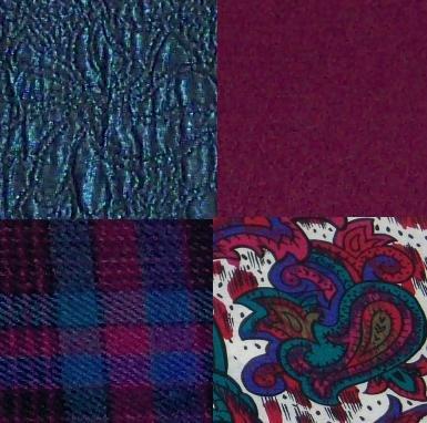 Lot - Vintage Yardage Fabrics:100% Wool, Challis, Lining - 22+ useable yards