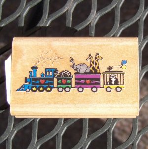 Rubber Stamp - Circus Train by Rubber Stampede NEW