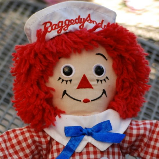 Raggedy Andy Doll Stuffie 12 inch