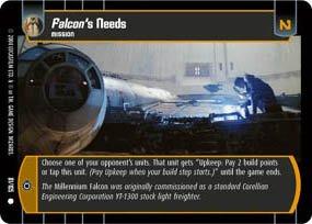 #81 Falcon's Needs