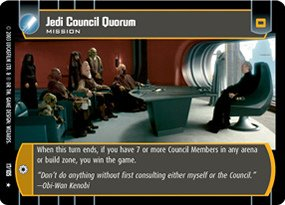 #017 Jedi Council Quorum Star Wars TCG JG