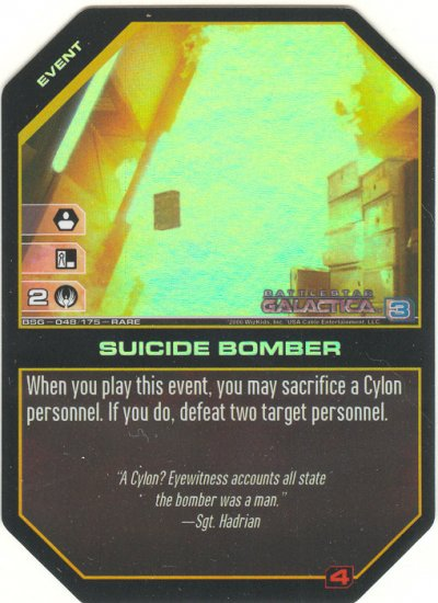 Suicide Bomber FOIL BSG-048 (R) Battlestar Galactica CCG