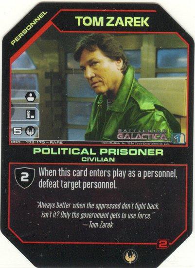 Tom Zarek, Political Prisoner BSG-139 FOIL (R) Battlestar Galactica CCG