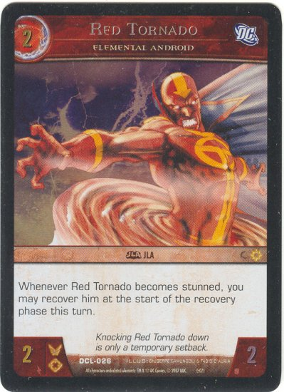 Red Tornado, Elemental Android FOIL DCL-026 (C) DC Legends VS System TCG