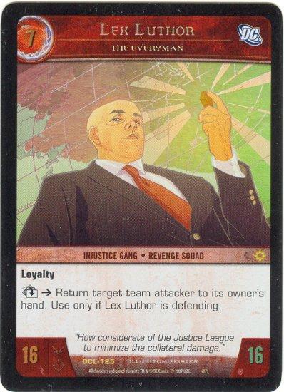 Lex Luthor, The Everyman FOIL DCL-125 (R) DC Legends VS System TCG