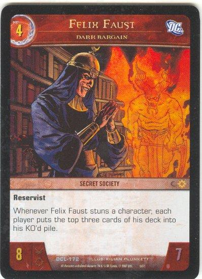Felix Faust, Dark Bargain FOIL DCL-172 (U) DC Legends VS System TCG