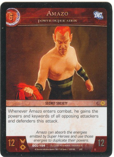 Amazo, Power Duplication FOIL DCL- (C) DC Legends VS System TCG