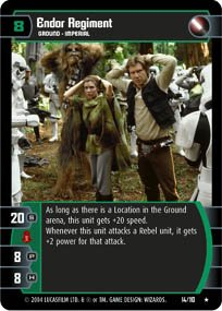 #14 Endor Regiment (RotJ rare) Star Wars TCG