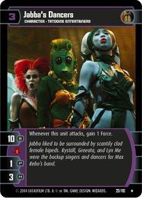 #20 Jabba's Dancers (RotJ rare) Star Wars TCG