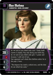 #28 Mon Mothma (A) (RotJ rare) Star Wars TCG