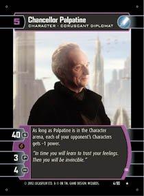 #4 Chancellor Palpatine (B) (SR rare)