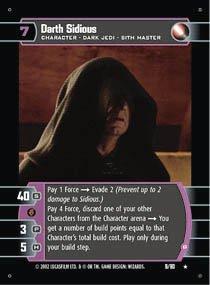 #9 Darth Sidious (B) (SR rare)