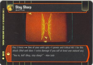 #123 Stay Sharp FOIL ANH