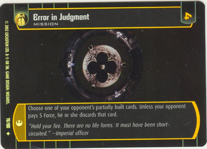 #76 Error in Judgment FOIL ANH