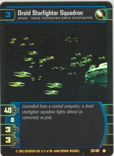#133 Droid Starfighter Squadron FOIL AOTC