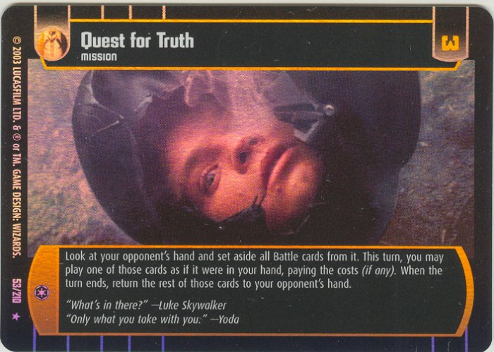 #53 Quest for Truth FOIL (ESB rare) Star Wars TCG