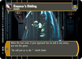 #20 Emperor's Bidding (ESB rare) Star Wars TCG
