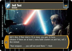 #30 Jedi Test (ESB rare) Star Wars TCG