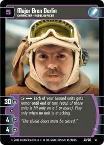 #43 Major Bren Derlin (A) (ESB rare) Star Wars TCG