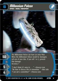 #47 Millenium Falcon (G) (ESB rare) Star Wars TCG