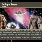 #50 Parting of Heroes (ESB rare) Star Wars TCG
