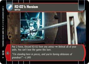 #55 R2-D2's Heroism (ESB rare) Star Wars TCG