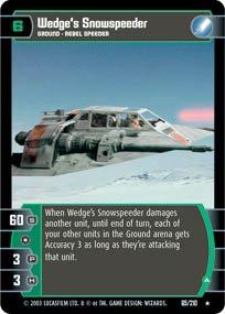 #65 Wedge's Snowspeeder (ESB rare) Star Wars TCG