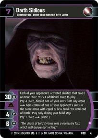 #7 Darth Sidious (G) Star Wars TCG (ROTS rare)