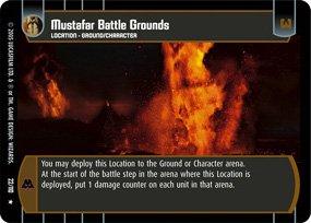 #22 Mustafar Battle Grounds Star Wars TCG (ROTS rare)