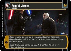 #28 Rage of Victory Star Wars TCG (ROTS rare)